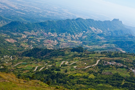 lofty: road in the mountains of Thailand Stock Photo