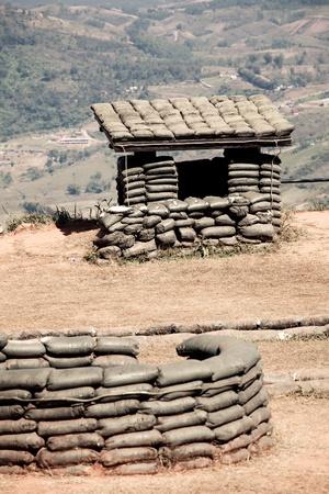 bombard: Stazione eliografica nella montagna della Thailandia