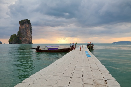 southern thailand: boat on the sea in Southern of Thailand