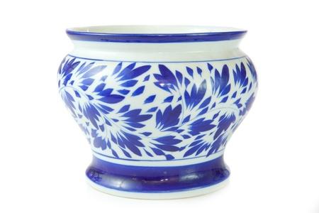 chinese antique vase on the plain back ground photo