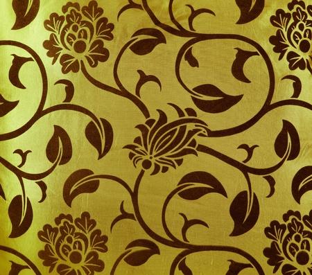 textile image: flower fabric texture, decorative colored canvas