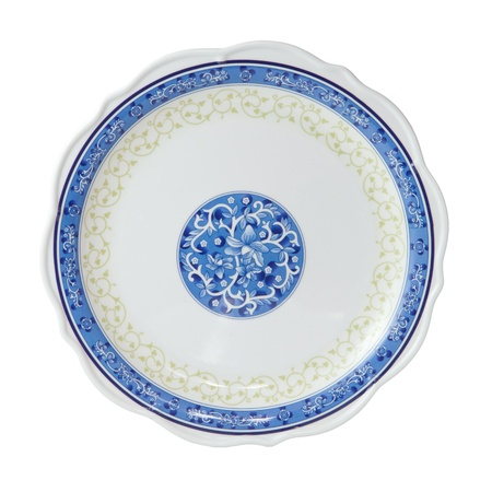 Painted plate isolated on white photo