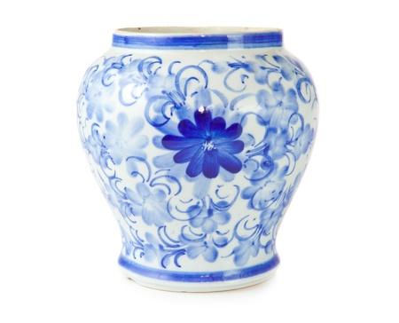 chinese antique vase on the plain back ground Stock Photo - 11977137