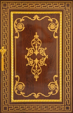 wood carving door: Chinese Traditional wood carvings as background Stock Photo