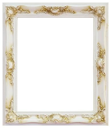 gilt: White frame on white background Stock Photo