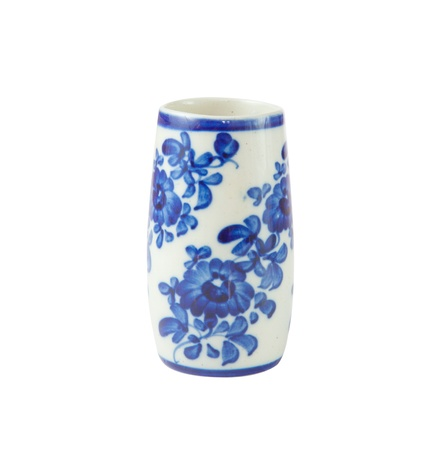 chinese antique vase on the plain back ground photo