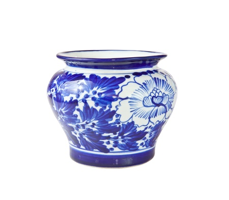 chinese antique vase on the plain back ground Stock Photo - 12597723