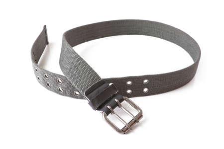waistband: trousers belt isolated on white background Stock Photo