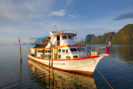 boat on the sea in Southern of Thailand Stock Photo - 12662329