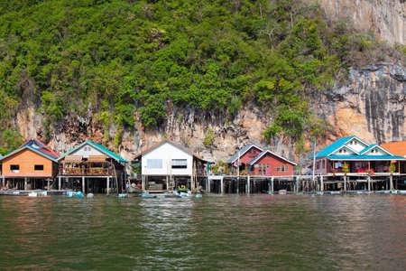 Fishermens Village, on the Coast of Thailand photo