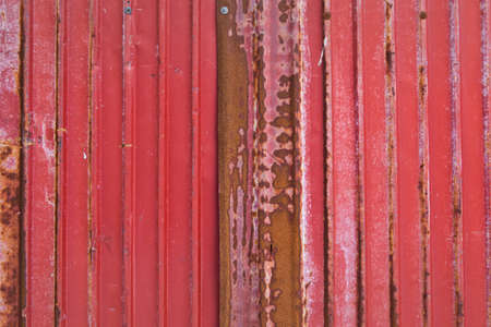 rusty corrugated iron red metal texture background photo