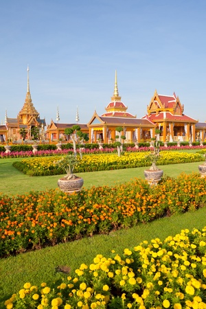 Thai royal funeral and Temple in bangkok thailand Stock Photo - 13450437