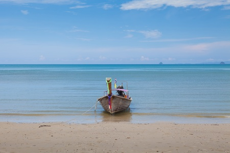 sea and boat in Phi Phi Leh south of Thailand photo