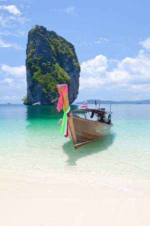 Cliff and the clear sea Phi Phi Leh south of Thailand Stock Photo - 13521074