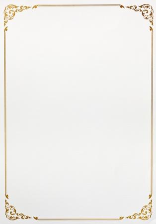 borde de flores: Papel de la vendimia marco de fondo de Foto de archivo