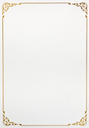 grens: Vintage frame papier achtergrond patroon