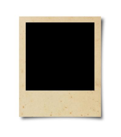 Old Blank photo isolated on white background photo