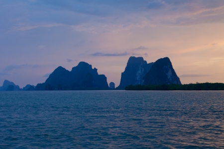 Beautiful tropical sea and mountain in Thailand photo
