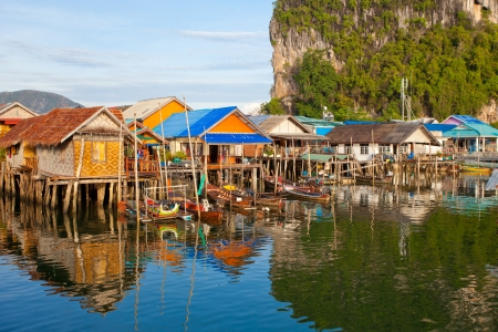 Fishermens Village, on the Coast of Thailand photo