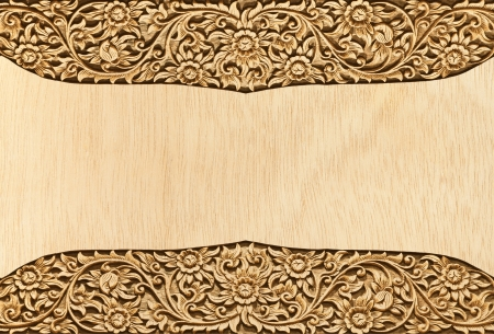 Pattern of wood frame carve flower on wood background Stock Photo - 13775500