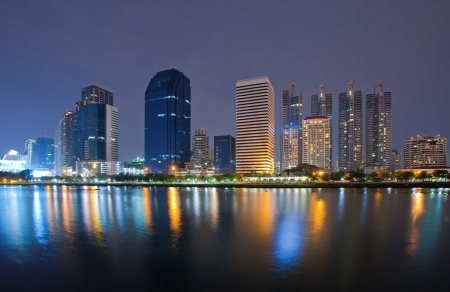 View of Modern city in Thailand Stock Photo - 13960033