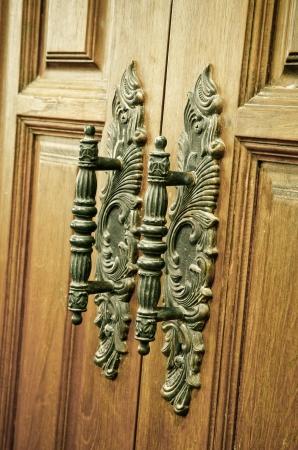 old vintage wood door handle Stock Photo - 13960047