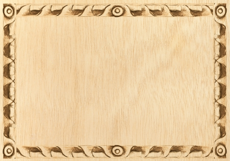 Pattern of wood frame carve on wood background Stock Photo - 14037616