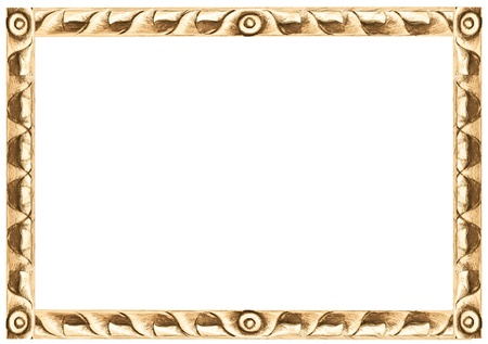 Pattern of wood frame carve on white background photo