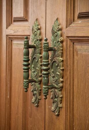 old vintage wood door handle Stock Photo - 14037607