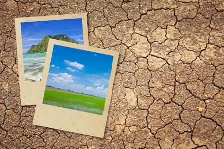 Dry cracked earth background and natural picture photo