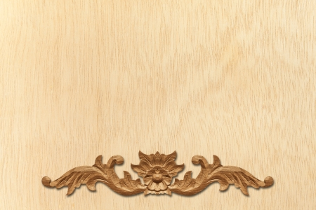 Pattern of wood frame carve flower on wood background Stock Photo - 14121468