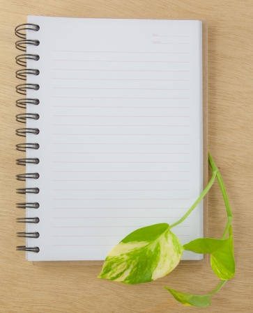 recycle notebook on wood background Stock Photo - 14222096