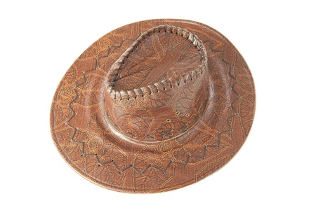 Vintage Cowboy Hat on white background photo