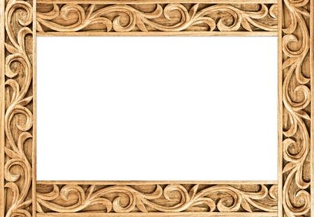 Muster der Blume geschnitzten Rahmen auf weißem Hintergrund Standard-Bild - 14521852