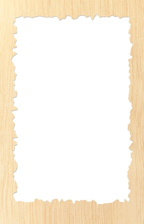 Pattern of carved frame on white background photo