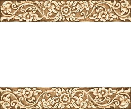 Muster der Blume geschnitzte Rahmen auf weißem Hintergrund Standard-Bild - 15299326