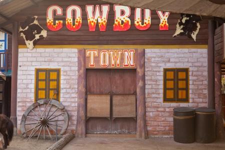 古いアメリカ西部様式の町