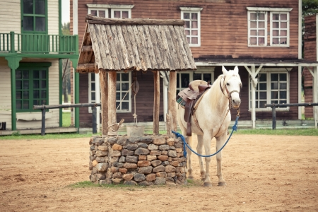 gunfights: hourse at the Historic wild west town style