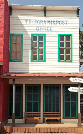 ghost town: Post office in America Wild West style