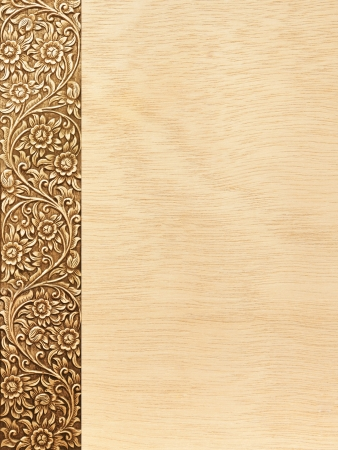 Pattern of flower carved frame on white background Imagens