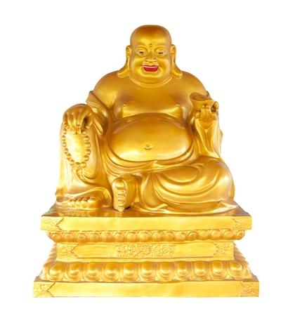 Statue of phra sangkajai Buddha isolated on white photo