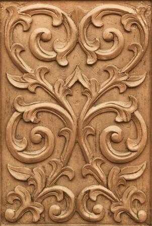 Pattern of flower carved on wood background Stock Photo - 18269078