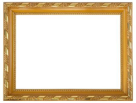 gold square gold frame isolated on white background