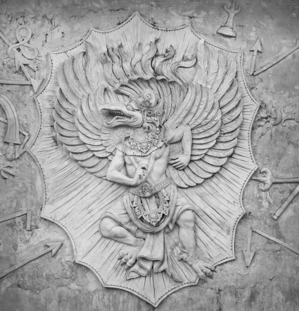 stone carving: Detail of carved stone at in Bali, Indonesia Stock Photo