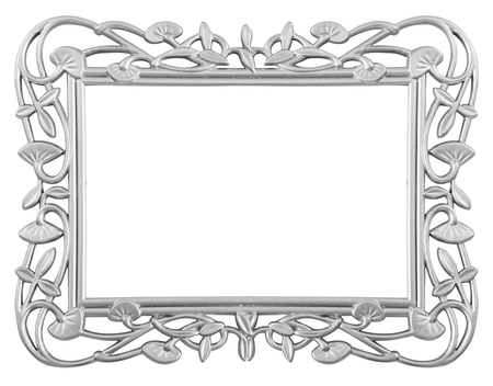 Isolated decorative frame over white background photo