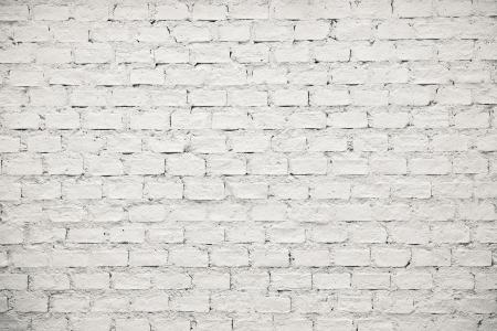 old white brick wall pattern as background photo