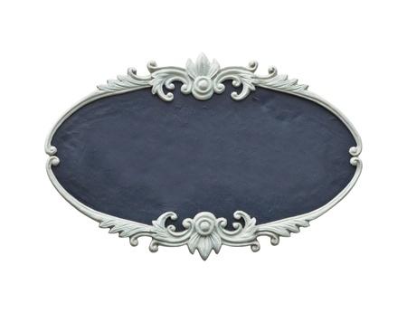 marco madera: marco de madera ovalada tallada aislado en fondo blanco
