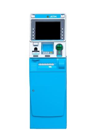 automatic transaction machine: Máquina de caja automatizada aisladas sobre fondo blanco