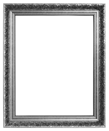 Silver frame on white background