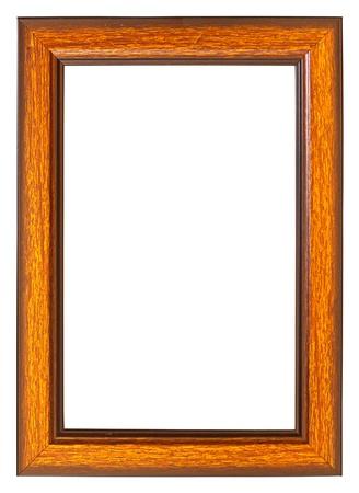 marco madera: Marco de madera aisladas sobre fondo blanco